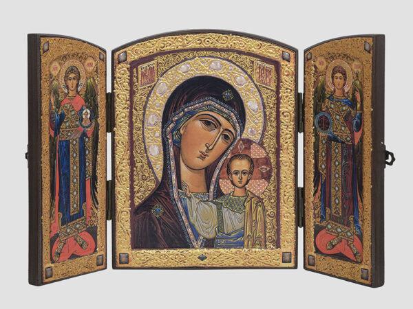 Складень: Казанська ікона Божої Матері, Арх.Михаїл, Арх.Гавриїл (С.Вандаловський)