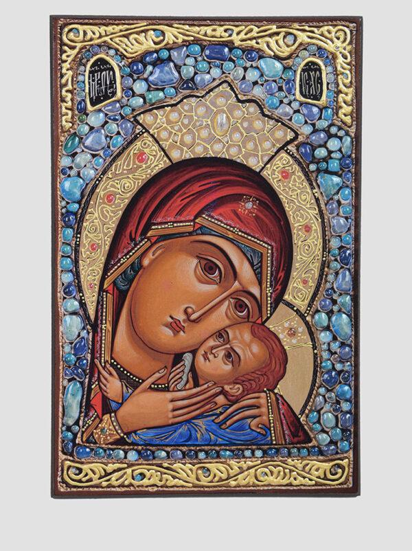 Касперівська ікона Божої Матері з голубими камінцями Сергія Вандаловського