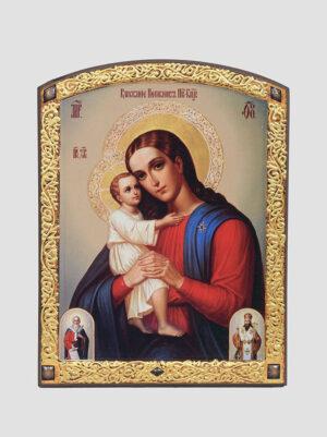 """""""Віднайдення загиблих"""" ікона Божої Матері в декоративній рамці"""