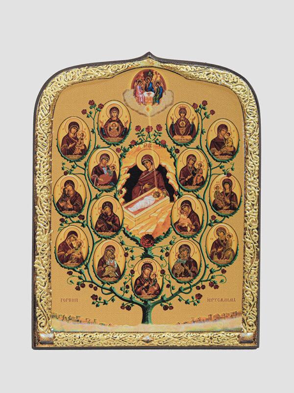"""Ікона """"Древо Пресвятої Богородиці"""" (""""Горній Єрусалим"""")"""