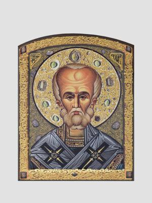 Св. Миколай Чудотворець з декоративним розписом