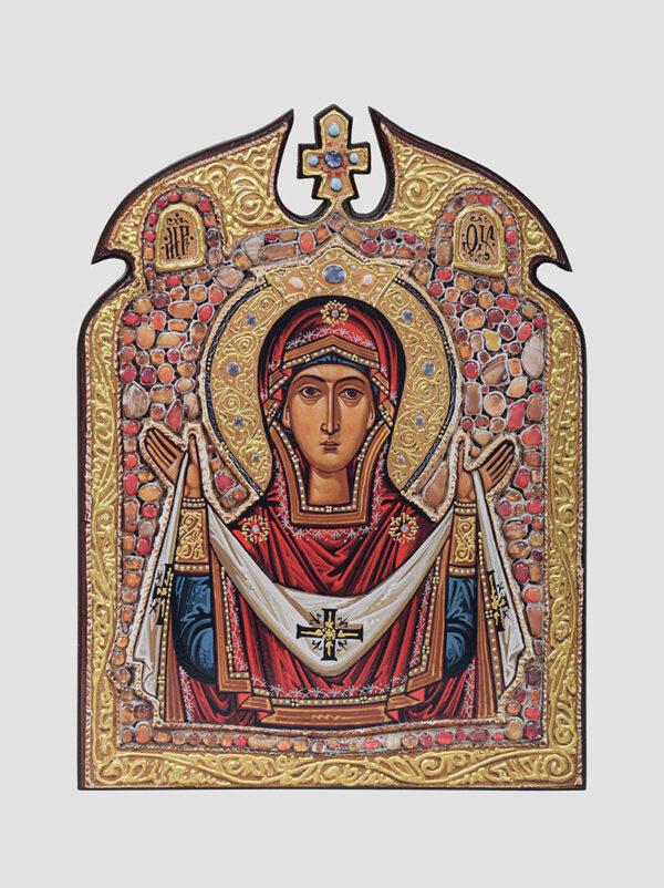 """""""Покров"""" ікона Божої Матері з хрестом (С.Вандаловський)"""