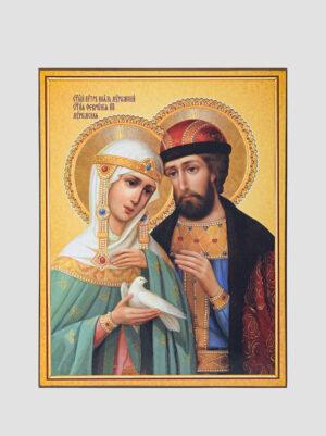 Свв. Петро та Февронія з голубом