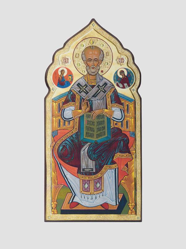 Св. Миколай Чудотворець на престолі (С.Вандаловський)