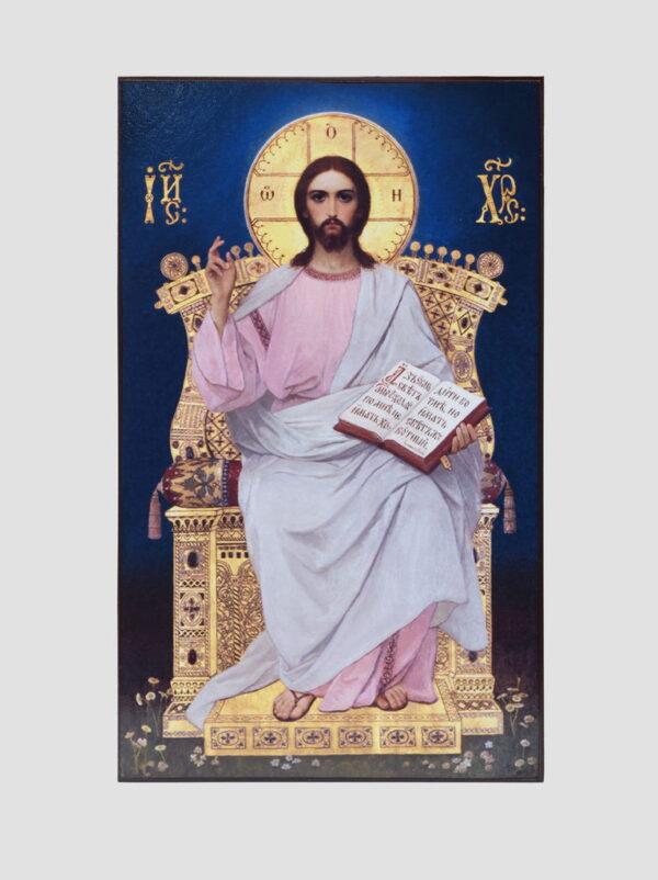 Пара вінчальна з іконою Божої Матері з Немовлям (іконостас Трапезного храму, Києво-Печерська лавра) Ісус Христос