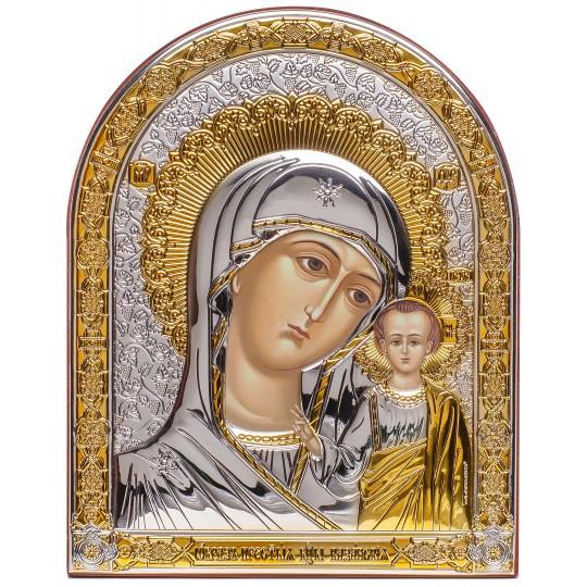 Казанська ікона Божої Матері (срібна, арочна)