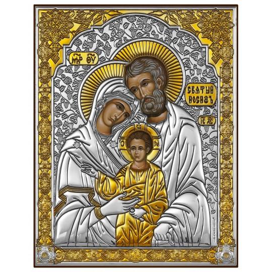 Святе сімейство (срібна ікона)