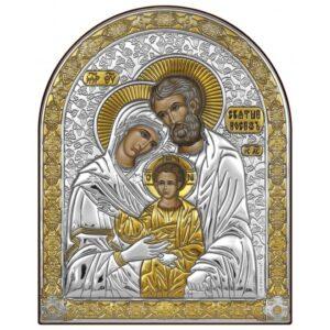 Святе Сімейство (ікона срібна, арочна)
