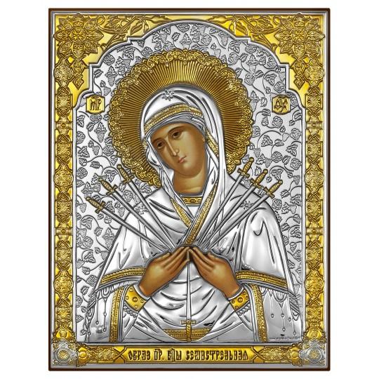 Семистрільна ікона Божої Матері (срібна)