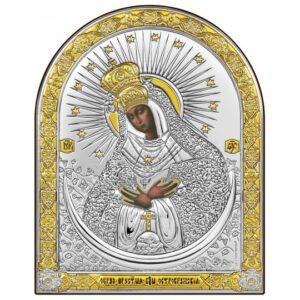 Остробрамська Богородиця (ікона срібна, арочна)