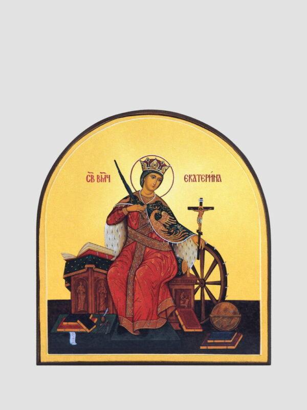 Св. Катерина Олександрійська (арочна ікона)